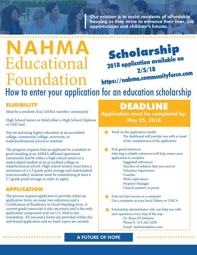 Nahma Educational Foundation Scholarship Program